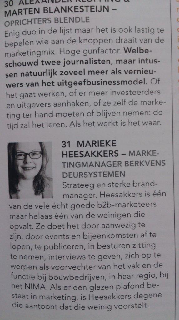 top 100 beste Marketeers van Nederland