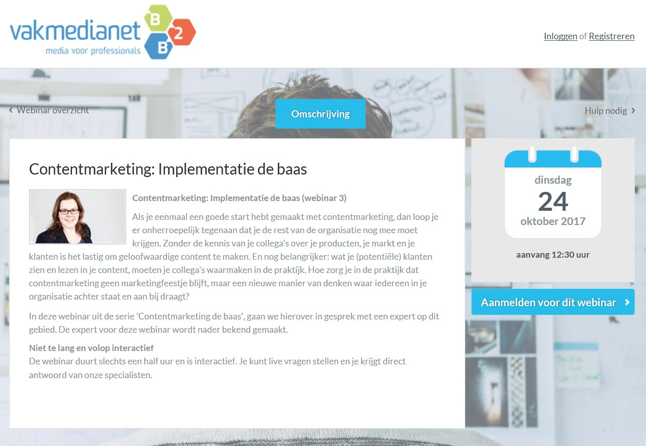 Webinar Contentmarketing Vakmedianet